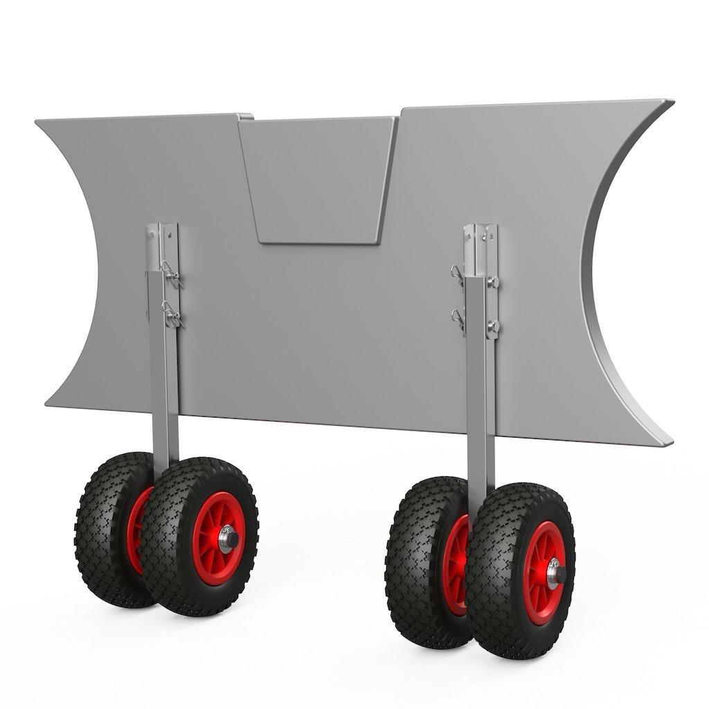 Dvojité přepravní kolečka EW200 černo / červené