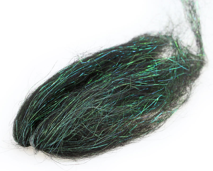 Vlasy SYBAI Flash Icelandic Sheep Hair, Black Peacock