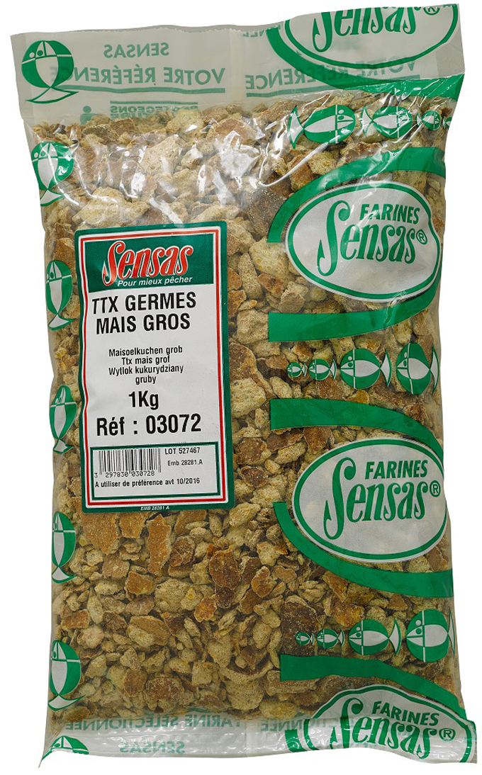 Kukuričná placka SENSAS TTX pomletá hrubá