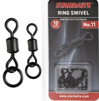Obratlíky StarBAITS Ring Swivel s kroužkem