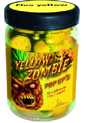 Boilie QUANTUM Radical Neon Pop Up Yellow Zombie