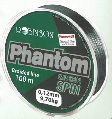 Spletaná šnúra ROBINSON Phantom Spin Green