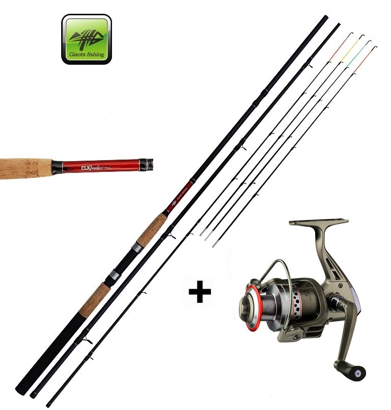 SET = prút Giants Fishing Classic Feeder TR + navijak