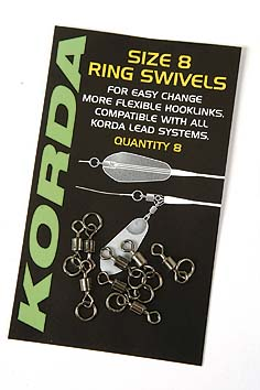Obratlík s krúžkom KORDA Flexi Ring Swivels