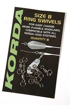 Obratlík s kroužkem KORDA Flexi Ring Swivels