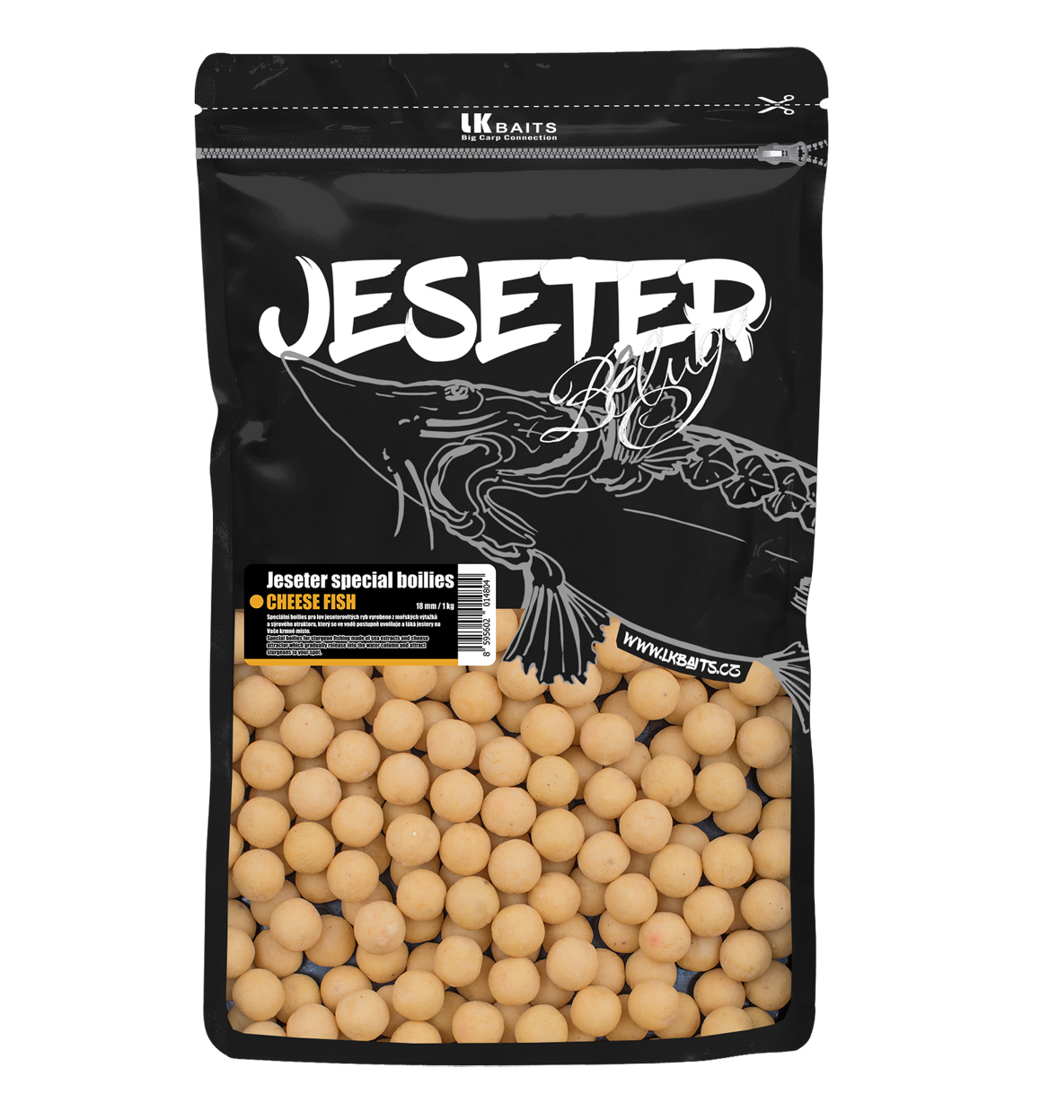 Boilie LK BAITS Jeseter Special Cheese