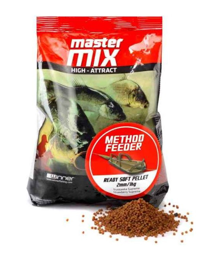 Mäkké pelety WINNER Master Mix Method Feeder Ready Soft Pellet
