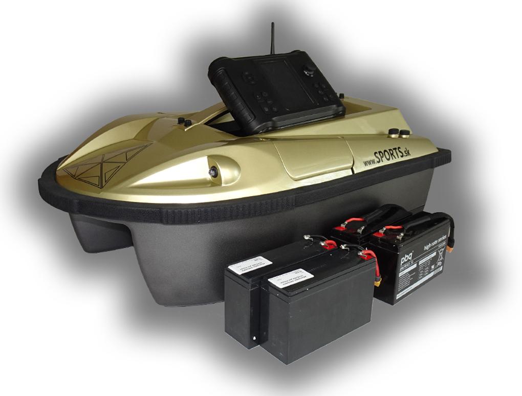 SET - zavážacia loďka PRISMA 7G + sonar + GPS + 2x akumulátor