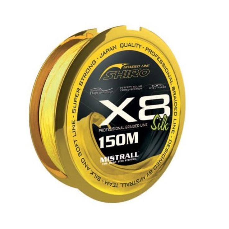 Šnúra MISTRALL Shiro Silk X8 Fluo žltá