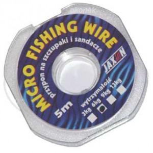 Pletené oceľové lanko JAXON Micro Fishing Wire