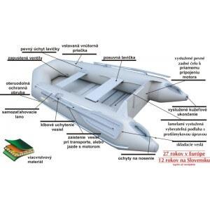 Obrázok 2 k SET - čln ALBASTAR Shelf + elektromotor RHINO Cobold