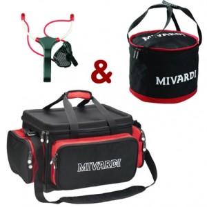 SET = taška MIVARDI Compact + miešadlo Mixing bag L + prak