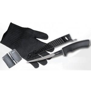 SET FLADEN nôž + rukavica + brúska