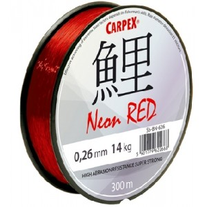 Vlasec CARPEX Neon Red 300m