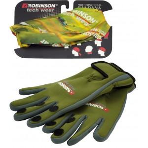 SET = Neoprénové rukavice ROBINSON Tech Wear + šatka