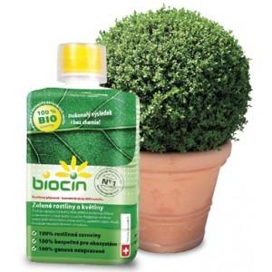 Posilňujúci prostriedok Biocin pre zelené a kvitnúce rastliny