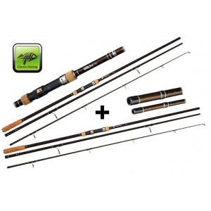 SET = 2x prút Giants Fishing LXR Carp + 4x sťahovacie pásky