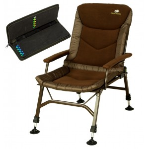 SET = kreslo GIANTS FISHING RWX Plus Fleece Chair + peračník