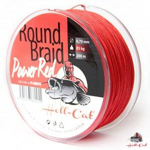 Šnúra HELL-CAT Round Braid Power Red