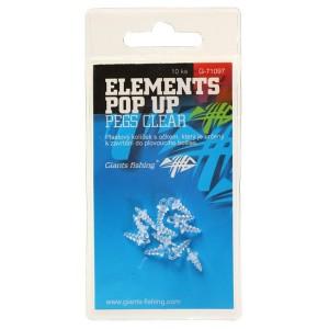 Skrutka GIANTS FISHING Elements Pop-Up Pegs Clear na nástrahy