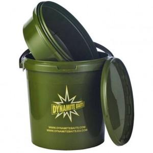 Vedro DYNAMITE BAITS Carp Bucket Green s vaničkou a vekom