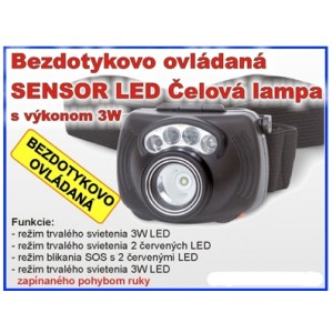 Čelovka ZEBCO Sensor Led Headlight 3W