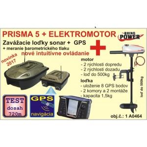 Zavážacia loďka PRISMA 5 + sonar + GPS + elektromotor