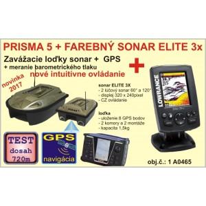 Zavážacia loďka PRISMA 5 + sonar + GPS + sonar