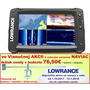 Sonar LOWRANCE Elite 9Ti so sondou TotalScan