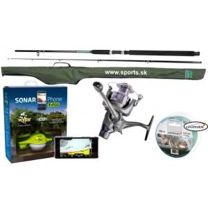 SET = nahadzovací sonar Vexilar Wifi + udica + navijak + vlasec + púzdro