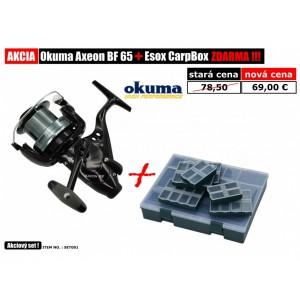 SET = navijak Okuma Axeon BF65 + Carp Box Esox