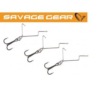 Systém SAVAGE GEAR Offset Treble hooks For Soft 4Play