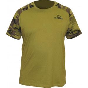 Tričko OKFISH zelené/ maskáč